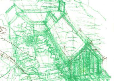 Wellfleet drawing- Bergen Street Studio, Brooklyn, NY